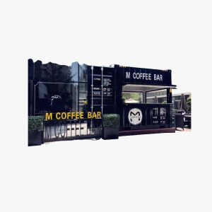10′ High Cube Cafe Container (Black)