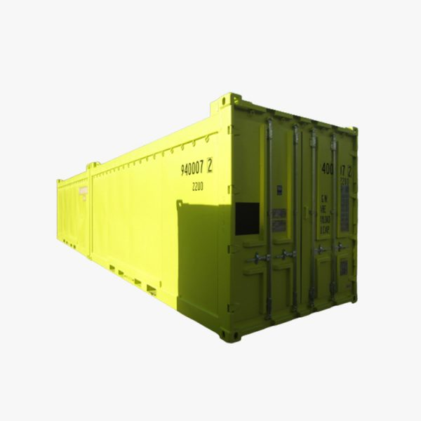 20′ DNV Open Top Shipping Container (Yellow)