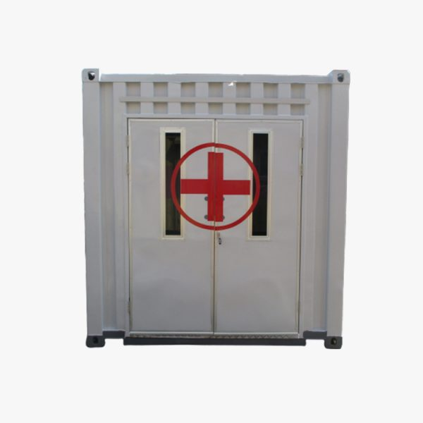 20′ Emergency Unit Container (Grey White Red)