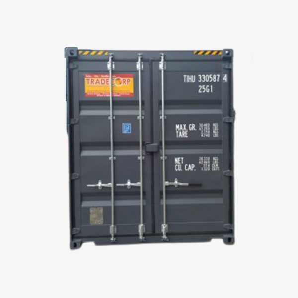 20′ HIGH CUBE EASY OPENING DOOR SHIPPING CONTAINER (Slate Grey) - 1