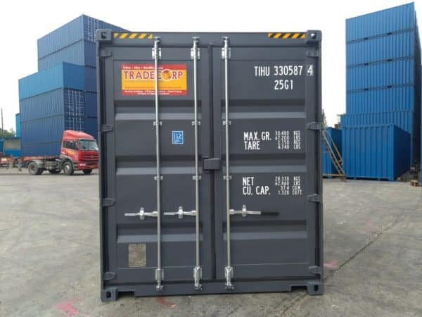20′ HIGH CUBE EASY OPENING DOOR SHIPPING CONTAINER (Slate Grey)1
