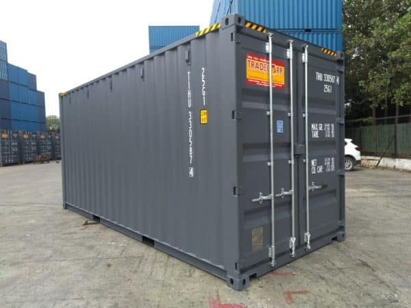 20′ HIGH CUBE EASY OPENING DOOR SHIPPING CONTAINER (Slate Grey)3