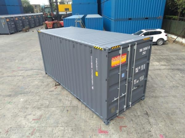 20′ HIGH CUBE EASY OPENING DOOR SHIPPING CONTAINER (Slate Grey)5