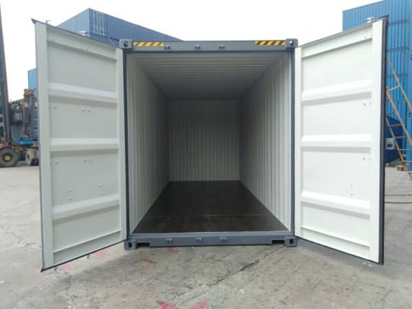 20′ HIGH CUBE EASY OPENING DOOR SHIPPING CONTAINER (Slate Grey)6