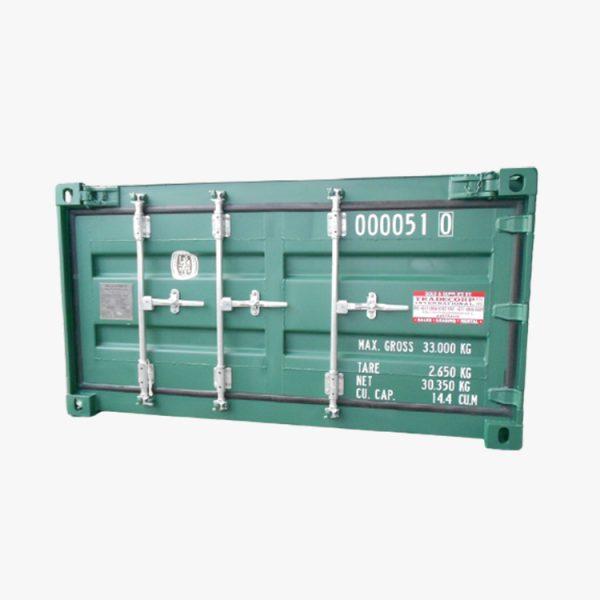 20′ Half Height Hard Top Container Single Door (Pine Green)