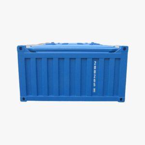 20′ Half Height Hard Top Container with No Door (Light Blue)
