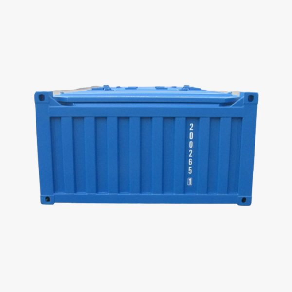 20′ Half Height Hard Top Container with No Door (Light Blue)