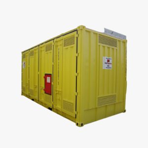 20′ High Cube Double Side Opening Dangerous Goods Container (Yellow)