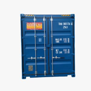 20′ High Cube Easy Opening Door Shipping Container (Gentian Blue)