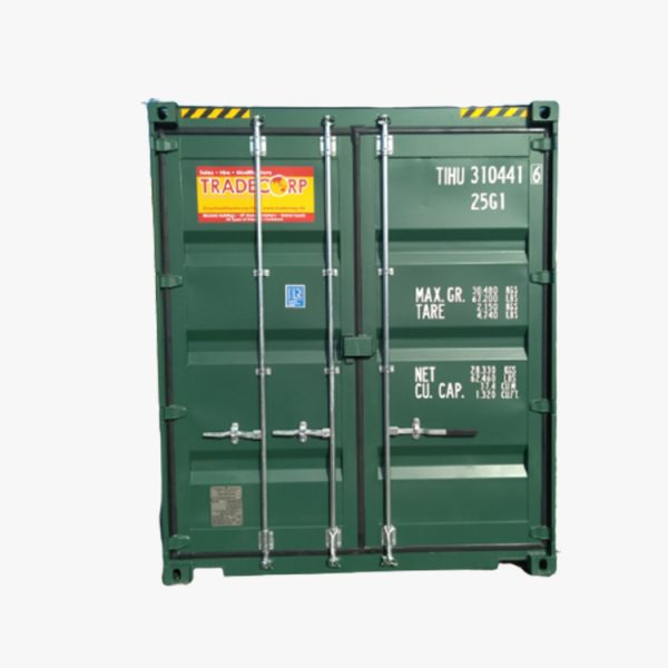 20′ High Cube Easy Opening Door Shipping Container (Pine Green)
