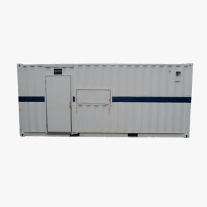 20′ Tool Storage Container (White & Blue Stripe)