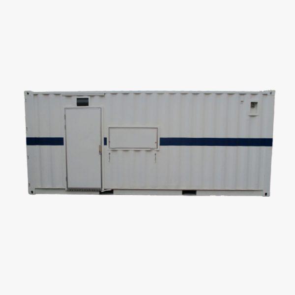 20′ Tool Storage Container (White & Blue Stripe)