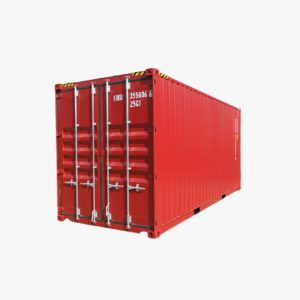 20' DOUBLE DOOR HIGH CUBE (RED)