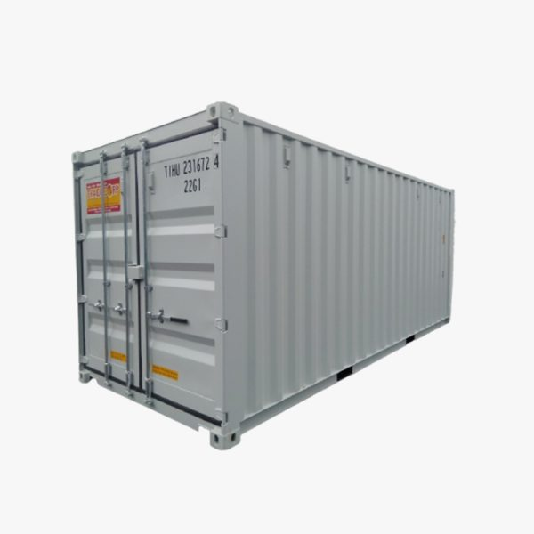 20' Double Door Shipping Container (Putih)