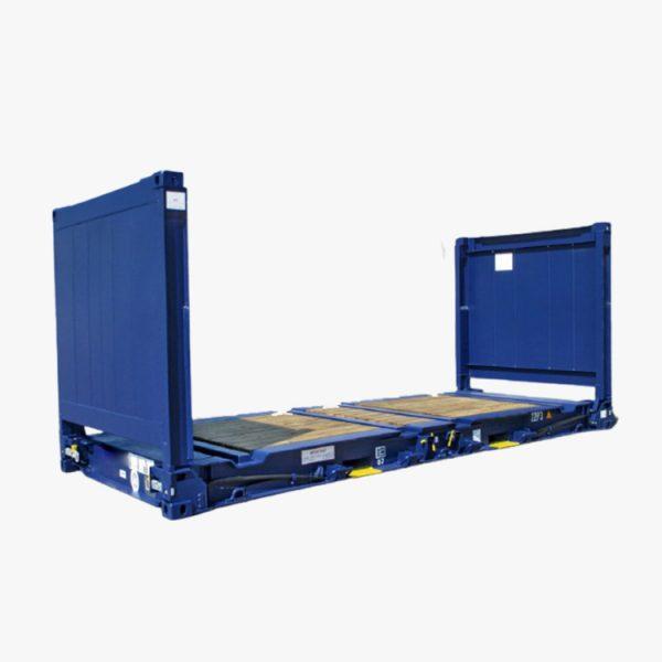 20' Flat Rack (Blue)