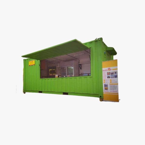 20' High Cube Cafe Container (Green)