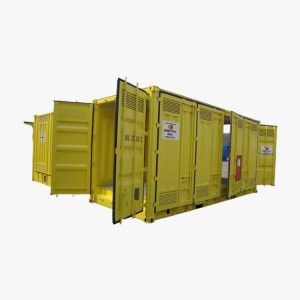 20' High Cube Double Door Double Side Opening Dangerous Goods Container (Yellow)