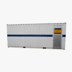 20' Male Toilet Container (White & Blue Stripe)