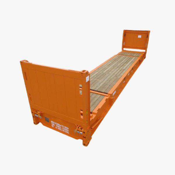 40' Flat Rack (Orange)