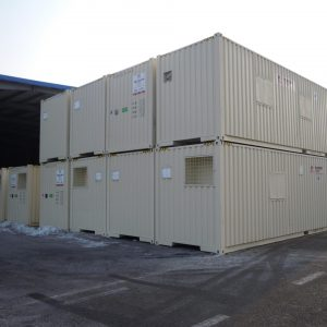 40' Sleeper & Toilet Unit